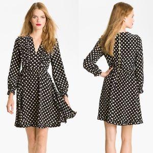 Kate Spade | Silk Adelle Polka Dot Fit Flare Dress